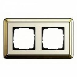 Рамка 2 поста Gira CLASSIX ART, бронзовый, 0212663