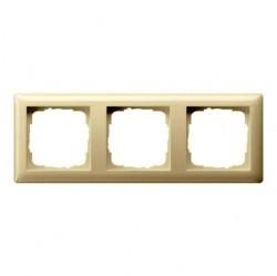 Рамка 3 поста Gira STANDARD 55, кремовый глянцевый, 021301