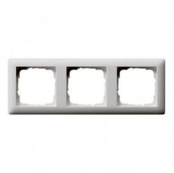 Рамка 3 поста Gira STANDARD 55, белый глянцевый, 021303