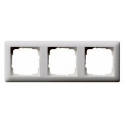 Рамка 3 поста Gira STANDARD 55, белый матовый, 021304