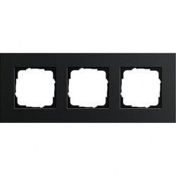 Рамка 3 поста Gira ESPRIT, черный, 0213126