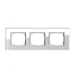 Рамка 3 поста Gira ESPRIT, белый, 021312
