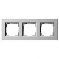 Рамка 3 поста Gira E22, белый глянцевый, 0213201