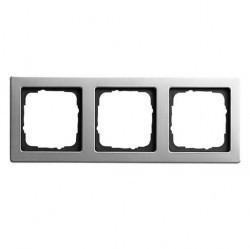 Рамка 3 поста Gira EDELSTAHL, стальной, 021321
