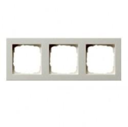 Рамка 3 поста Gira E2, белый глянцевый, 021329