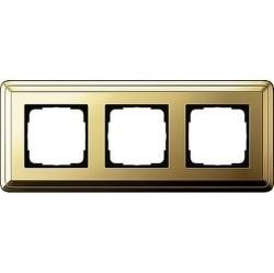 Рамка 3 поста Gira CLASSIX, латунь, 0213631