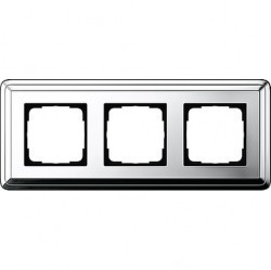 Рамка 3 поста Gira CLASSIX, хром, 0213641