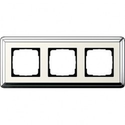 Рамка 3 поста Gira CLASSIX, хром, 0213643