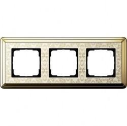 Рамка 3 поста Gira CLASSIX ART, латунь, 0213673