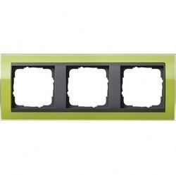 Рамка 3 поста Gira EVENT CLEAR, зеленый глянцевый, 0213748