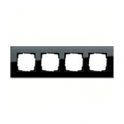 Рамка 4 поста Gira ESPRIT, черное стекло, 021405