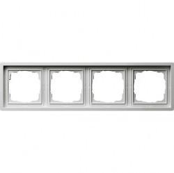 Рамка 4 поста Gira F100, белый глянцевый, 0214112