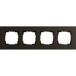 Рамка 4 поста Gira ESPRIT, коричневый, 0214127