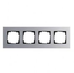 Рамка 4 поста Gira ESPRIT, алюминий, 021417