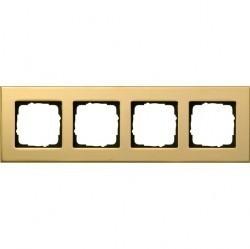 Рамка 4 поста Gira ESPRIT, латунь, 021419