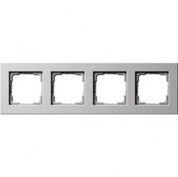 Рамка 4 поста Gira E22, белый глянцевый, 0214201