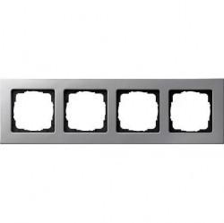 Рамка 4 поста Gira E22, алюминий, 0214203