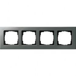 Рамка 4 поста Gira E22, стальной, 0214205
