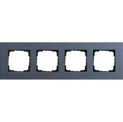 Рамка 4 поста Gira ESPRIT, синий, 0214227