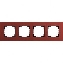 Рамка 4 поста Gira ESPRIT, красный, 0214229