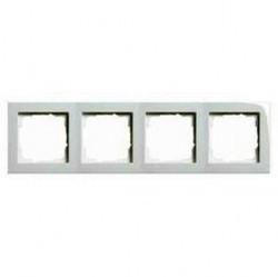 Рамка 4 поста Gira E2, белый глянцевый, 021429