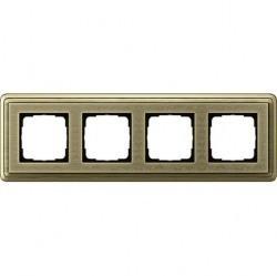 Рамка 4 поста Gira CLASSIX ART, бронзовый, 0214661