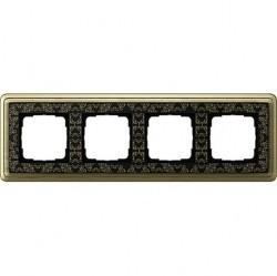 Рамка 4 поста Gira CLASSIX ART, бронзовый, 0214662