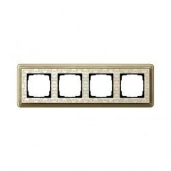 Рамка 4 поста Gira CLASSIX ART, бронзовый, 0214663