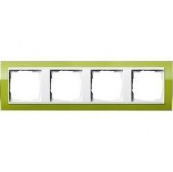 Рамка 4 поста Gira EVENT CLEAR, зеленый глянцевый, 0214743
