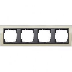 Рамка 4 поста Gira EVENT CLEAR, песочный глянцевый, 0214778