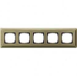 Рамка 5 постов Gira CLASSIX, бронзовый, 0215621