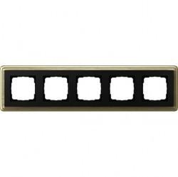 Рамка 5 постов Gira CLASSIX, бронзовый, 0215622