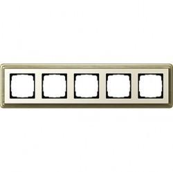 Рамка 5 постов Gira CLASSIX, бронзовый, 0215623