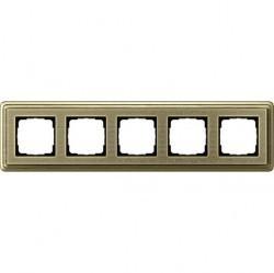 Рамка 5 постов Gira CLASSIX ART, бронзовый, 0215661