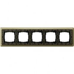 Рамка 5 постов Gira CLASSIX ART, бронзовый, 0215662