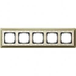 Рамка 5 постов Gira CLASSIX ART, бронзовый, 0215663