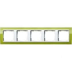 Рамка 5 постов Gira EVENT CLEAR, зеленый глянцевый, 0215743