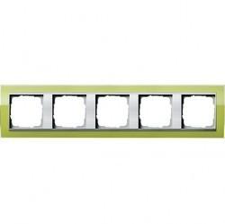 Рамка 5 постов Gira EVENT CLEAR, зеленый глянцевый, 0215746