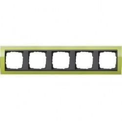 Рамка 5 постов Gira EVENT CLEAR, зеленый глянцевый, 0215748
