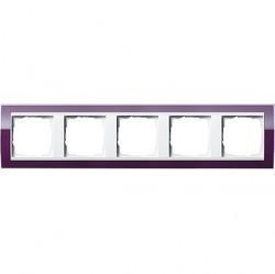 Рамка 5 постов Gira EVENT CLEAR, темно-фиолетовый глянцевый, 0215753
