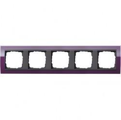 Рамка 5 постов Gira EVENT CLEAR, темно-фиолетовый глянцевый, 0215758