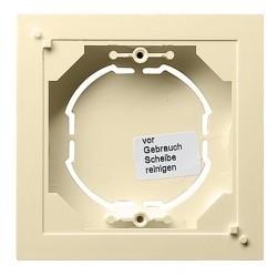 System55 Коробка плоская для открытого монтажа, глянцевый кремовый