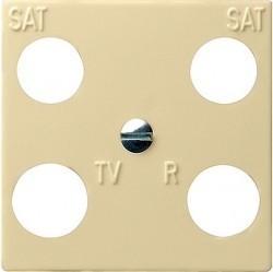 Накладка на розетку телевизионную Gira SYSTEM 55, кремовый глянцевый, 025801