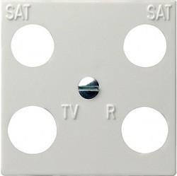 Накладка на розетку телевизионную Gira SYSTEM 55, белый глянцевый, 025803
