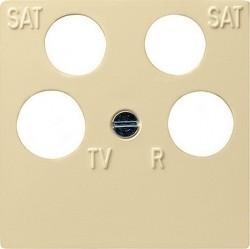 Накладка на розетку телевизионную Gira SYSTEM 55, кремовый глянцевый, 025901