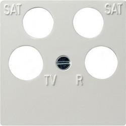 Накладка на розетку телевизионную Gira SYSTEM 55, белый глянцевый, 025903