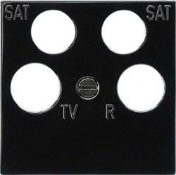Накладка на розетку телевизионную Gira SYSTEM 55, черный, 025910
