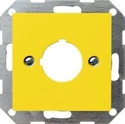 Накладка на мультимедийную розетку Gira SYSTEM 55, желтый, 027102