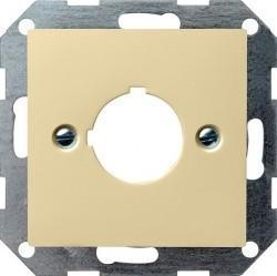 Накладка на мультимедийную розетку Gira SYSTEM 55, кремовый глянцевый, 027201