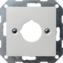 Накладка на мультимедийную розетку Gira SYSTEM 55, белый глянцевый, 027203